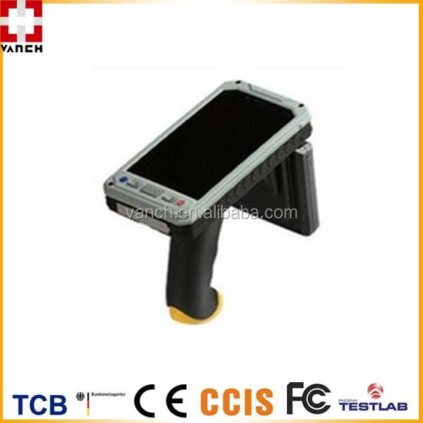 English/Spanish/French Multiple Language Android Long Distance RFID Handheld PDA
