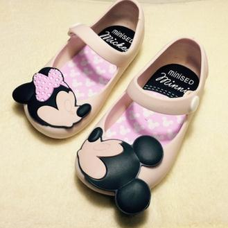 Mini Melissa Jelly Sandals For Baby Girls Boys Children Summer Cute Minnie Mickey Cartoon Beach Shoes