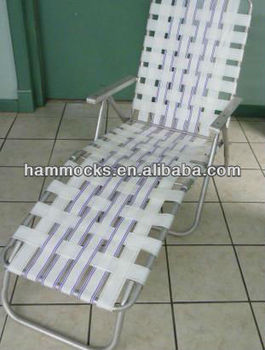 Aluminum folding webbed lawn chair chaise lounge view for Aluminum web chaise lounge