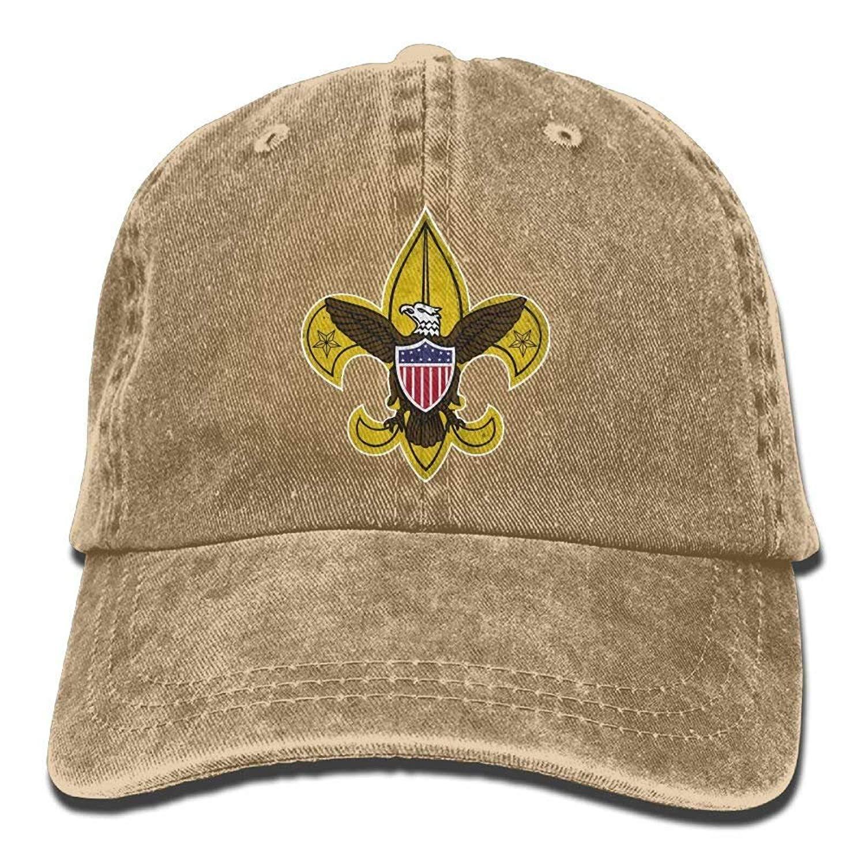 20c13d84ff0ba4 Get Quotations · Boy Scouts Retro Unisex Adjustable Cotton Denim Hat Washed  Retro Gym Hat Cap Hat