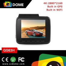 built -in GPS with wifi 4K resolution Car dash camera G-Sensor 170 wide angle lens car camcorder