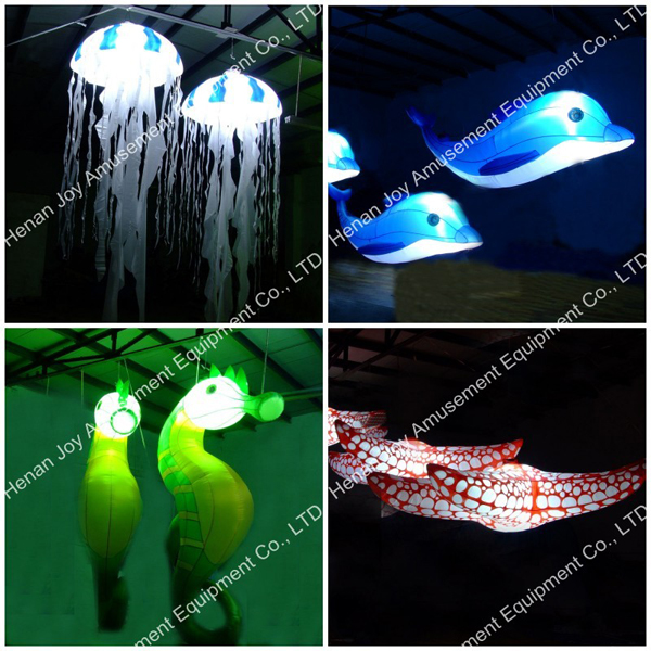 inflatable lighting helium sea animals for advertising, inflatable helium with led