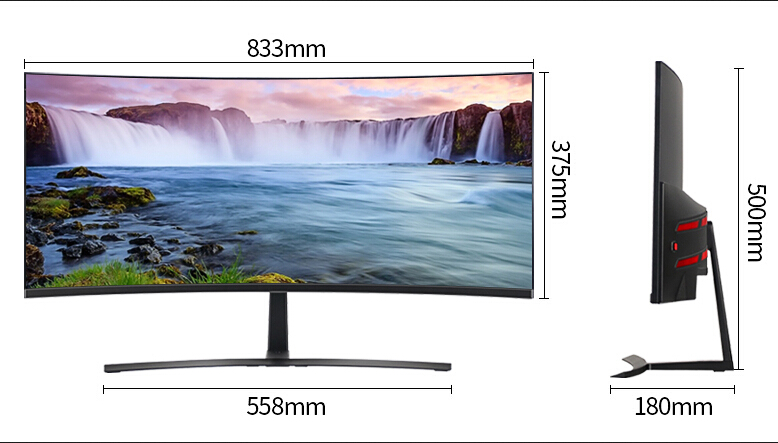 factory supply QHD 35 inch curved computer monitors 21:9 gaming pc monitor DP
