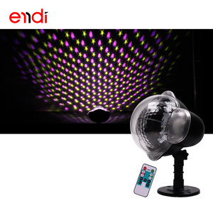 ENDI outdoor IP 65 Snow Falling Projector with remote white dot led light for christmas halloween birthday holiday garden tree
