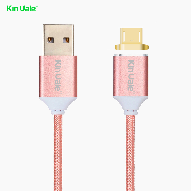 High Quality Fast Connect Cable Support Sync Data Magnetic Charging Cable Nylon Micro Usb Cable