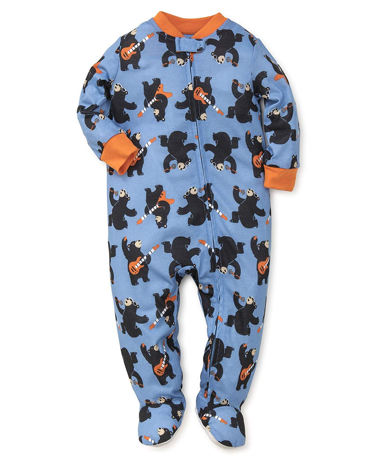 Get Quotations · Little Me Baby Boys  Polyester Zip Footies 96205af82