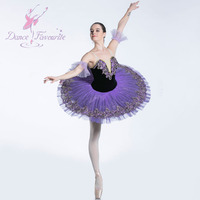 BLL087 Dark Purple Ballet Pancake Tutu Dance Costume for Girls Stage Performance Solo Dance Ballerina Costumes Professional Tutu