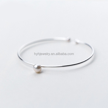 media bangles jewelry white bracelet bridal simple pearl faux bangle