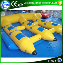 Commercial inflatable banana boat flying fish tube motorized water toy