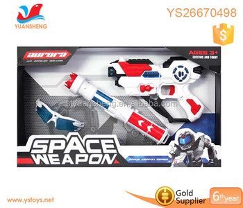 Wholesale children kids toy gun plastic light sword test EN71 police weapon gun set