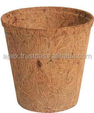 coco pots used in indoor and out door gardens