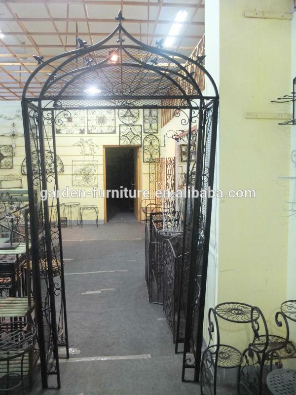 Guizhou Wrought Iron Handicrafts Decorative Painted White Cheap China Garden  Furniture,Metal Garden Arbor,