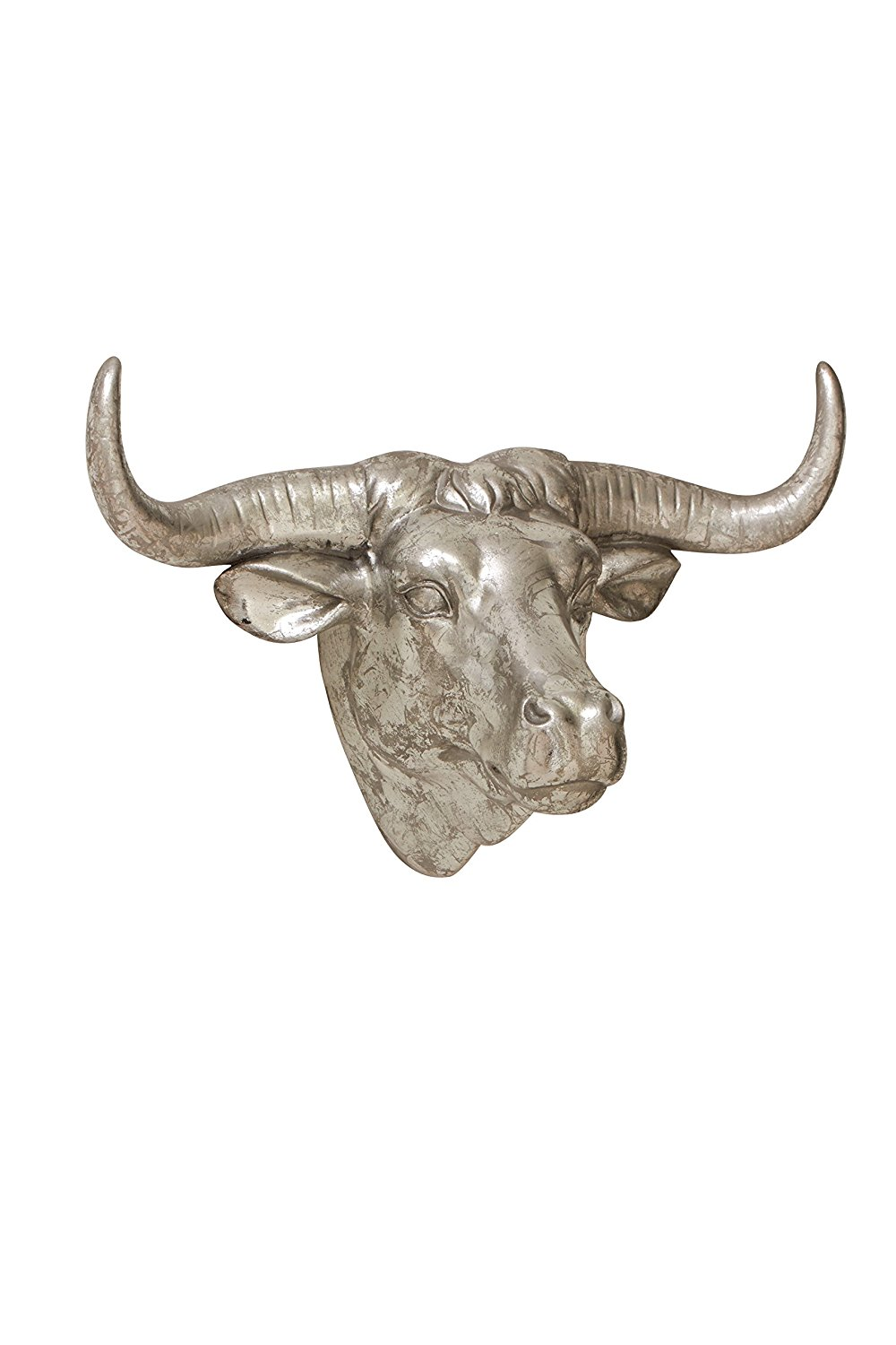 Plutus Brands Classic Styled Polystone Bull Trophy Head