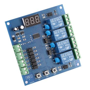 Dc12v/24v 4-channel Relay Module Programmable Plc Board Digital Adjustment  Signal Trigger Delay Timer Switch Control - Buy High Quality,China