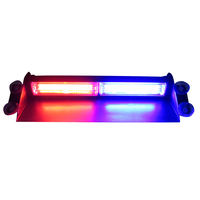 High Intensity LED Windshield Emergency Hazard Warning Strobe Lights red and blue