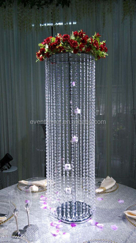 Candle Holder Flower Stand Crylic Crystal Chandelier Centerpieces For Wedding Party Decor Table