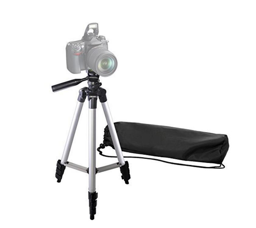 50 inch aluminum camera tripod with universal smartphone adapter and bluetooth remote control 3110 tripod