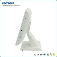 Micropos B15 White color OS Win 10 China supplier intel cpu high speed 15 inch touch screen pos machine epos
