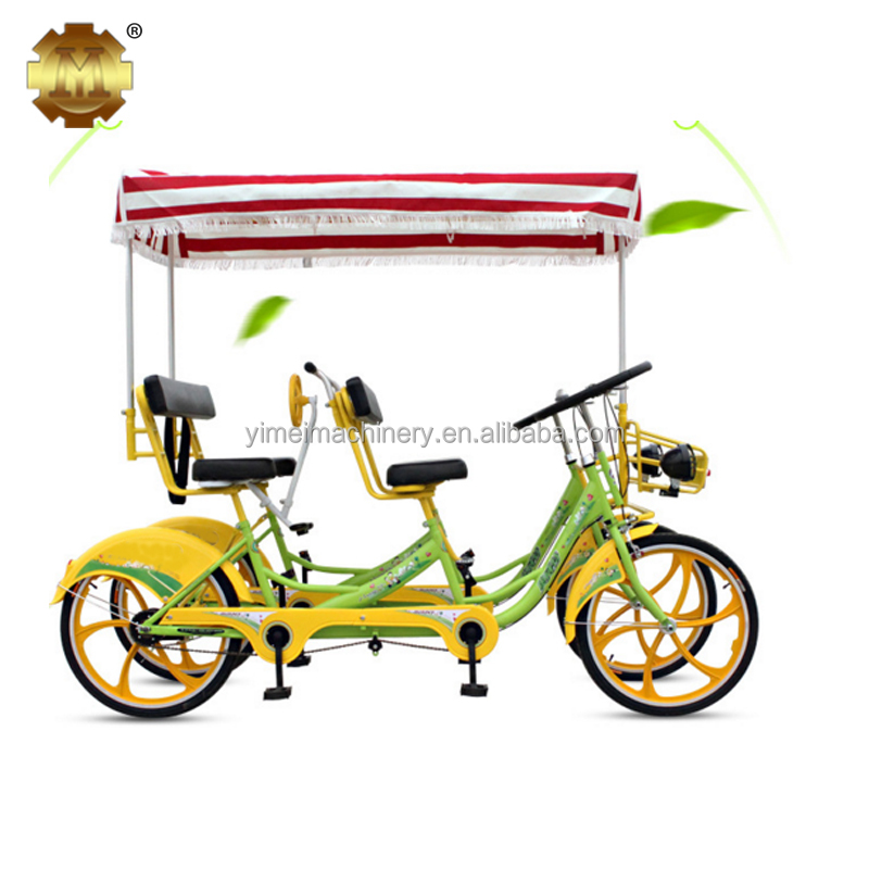 Best Selling Tandem Bike Four Seat Surrey Bike 4 Person Pedal <strong>Bicycle</strong>