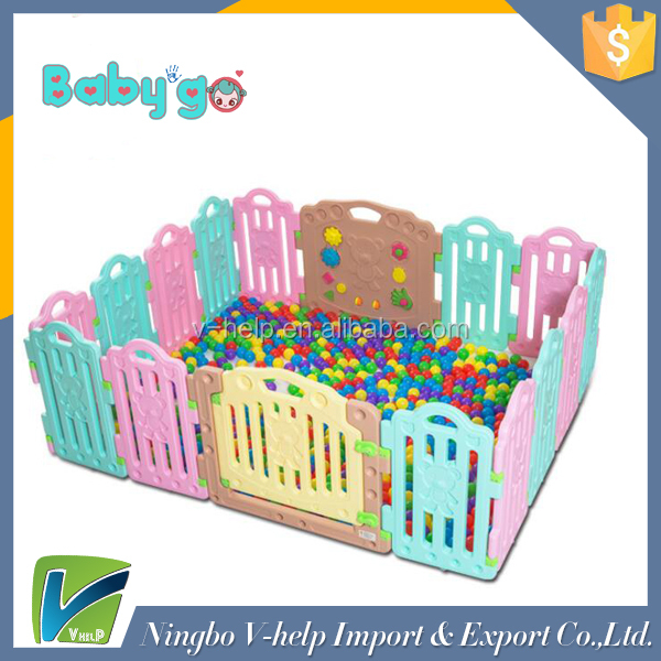 2017 New Style Small Panels Baby Fence Child Safety Fence Plastic Playpen Play Yard for Baby