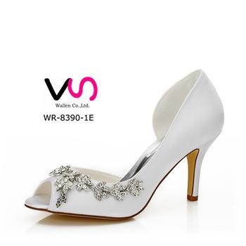 Wr 8390 1e Wedding Dress Shoes With Rhinestone In 8cm Heel High