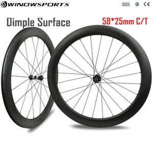dimple surface new mold knife slant brake surface clincher 25mm width wheels carbon, road dimple carbon wheelset 58mm