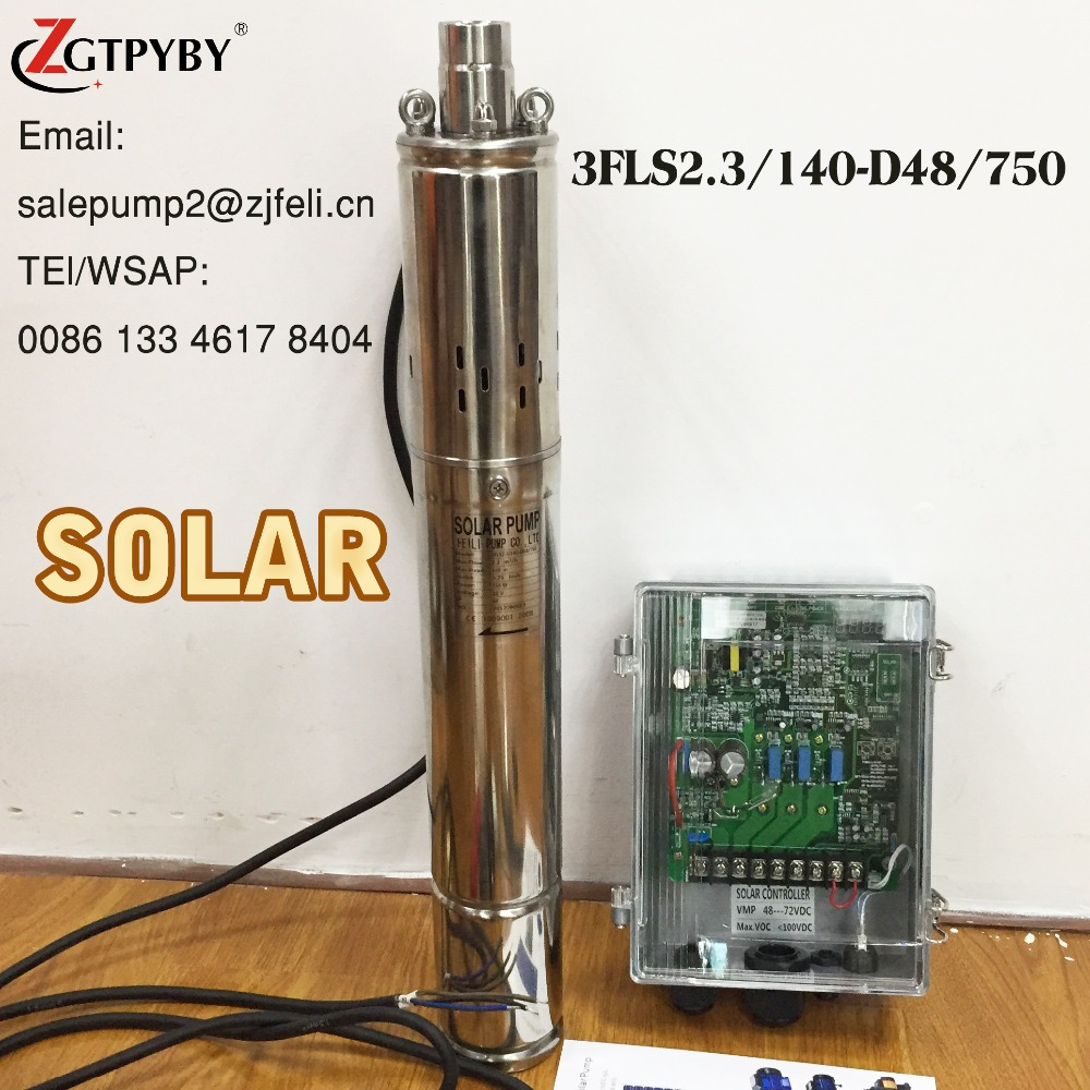 3FLS2.3/140-D48/750 solar water pump 48 v solar bore hole pumps 48 volt 48V submersible pump without <strong>electricity</strong>