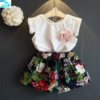 SE124 Summer Girls Clothing Sets Kids Clothes Hot Sale Children Clothing Set