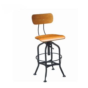 Triumph Plywood Swivel Antique Metal Bar Stools Industrial / Vintage Toledo  Metal High Bar Chairs