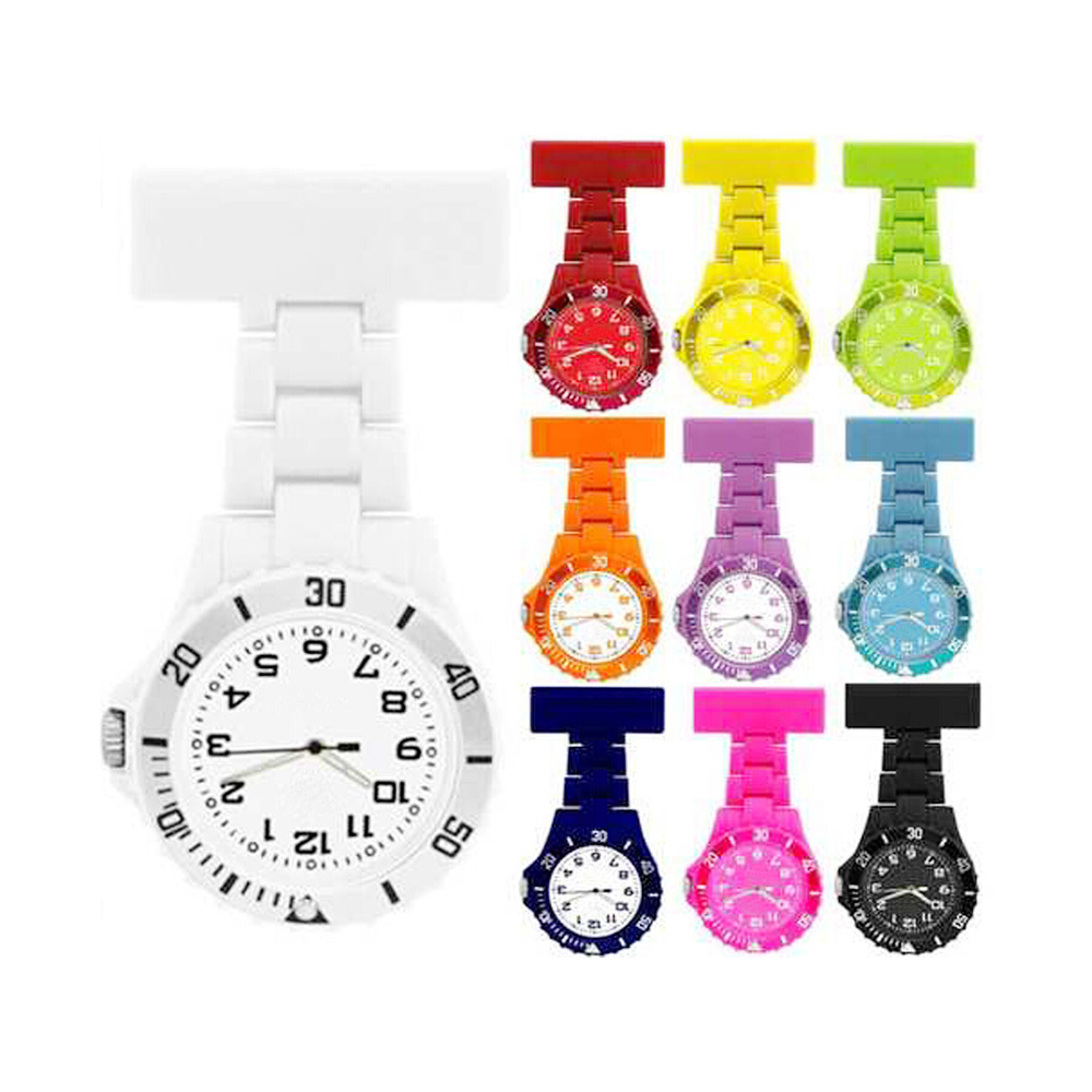 Nice rubber silicone nursing clock with various color nurse watch
