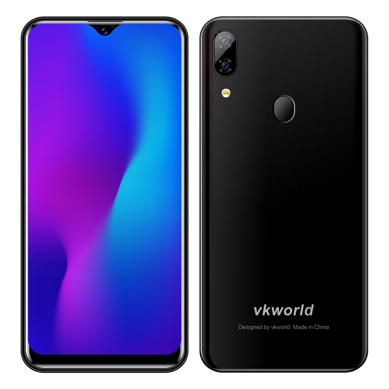 NEW VK World SD100 6.088 Inch Screen Smartphone Android 9.0 Mobile Phone 2G+16G Waterdrop Phone