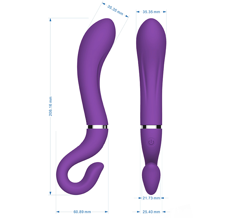 New USB Rechargeable Powerful Flexible Dido Vibrator Adult Sex Toy