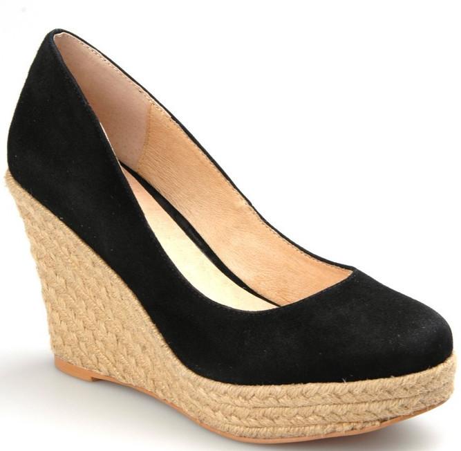 2d93e999c2a7a Get Quotations · Size 30-43 High heels wedges shoes woman platform casual  wedges pumps black blue yellow