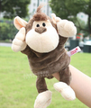 Story toy 1pc 30cm cartoon stereo forest monkey hand puppets plush sleeping pacify educational stuffed baby