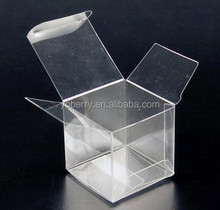 Small clear hard gift favor packaging 5x5 Plastic box factory manufacturer