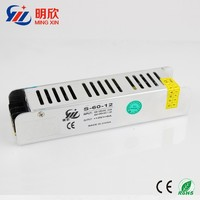 high quality dc 12v 5a strip shape power supply ,12V 60W small size led power supply S-60-12