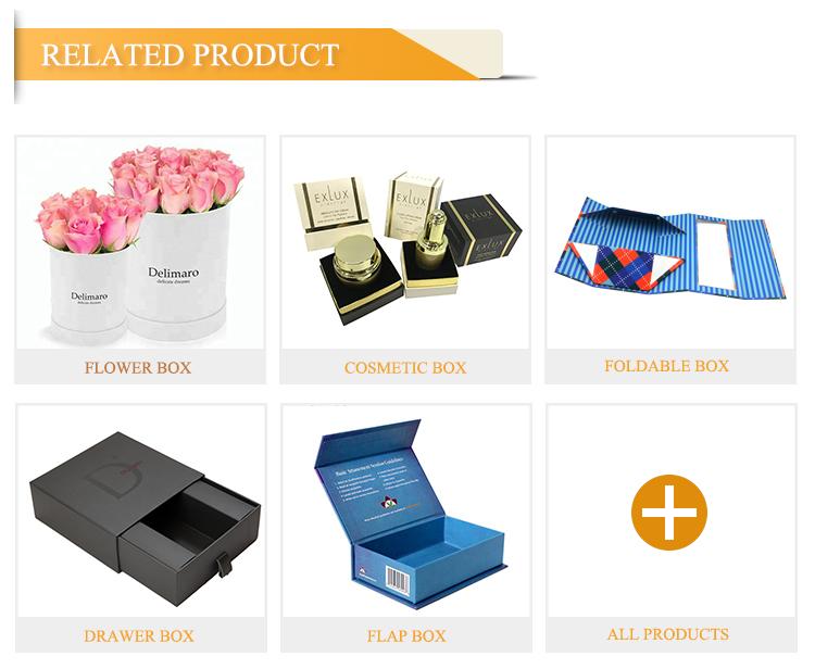 การออกแบบที่กำหนดเองพับกระดาษแข็งแข็งกล่องของขวัญแม่เหล็กสีดำที่มีการปิดแม่เหล็ก