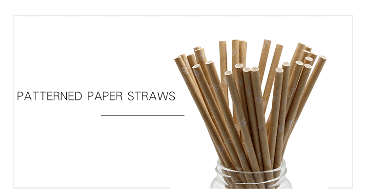 EU/FDA Certificate Disposable degradable Brown Fda Approved Glue Paper Tumbler Drinking Straws