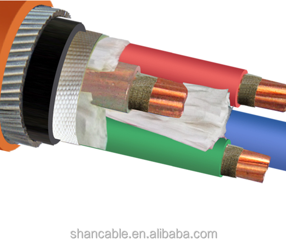 Fire Resistant 4core LV Armoured Electrical Cable XLPE Insulated Copper Core Steel Wire Armored Cable