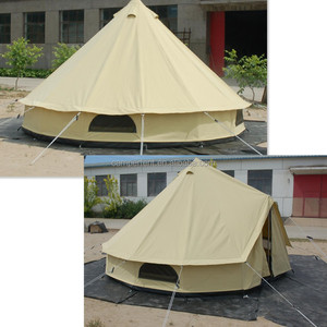 Wholesale fire resistant 6m dia bell tent for outdoor camping bivvy