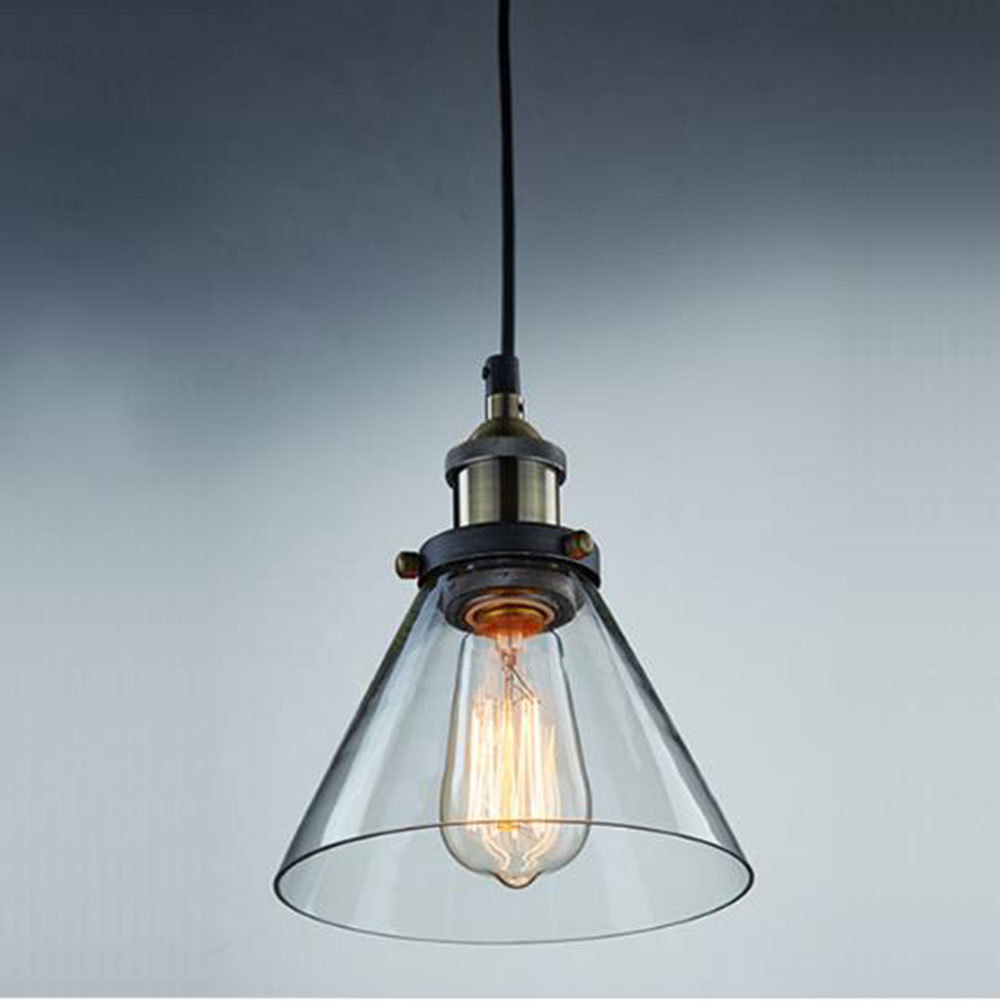 Vintage Industrial Glass Pendant Light: Aliexpress.com : Buy Modern Industrial Vintage Clear Glass