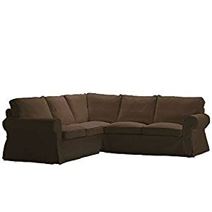 Replace Cover For IKEA Ektorp 2+2 Corner Sofa, 100% Cotton Sofa Cover