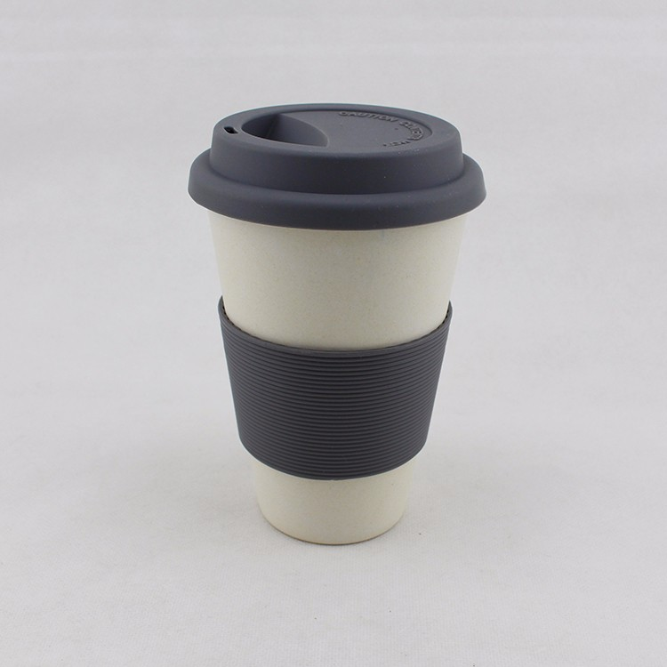 2017 New Style 350ML/12OZ BPA Free Silicone bamboo fiber Coffee Cup