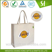 Custom cotton shopping tote bag/basketball lakers kobe lover shopping bag