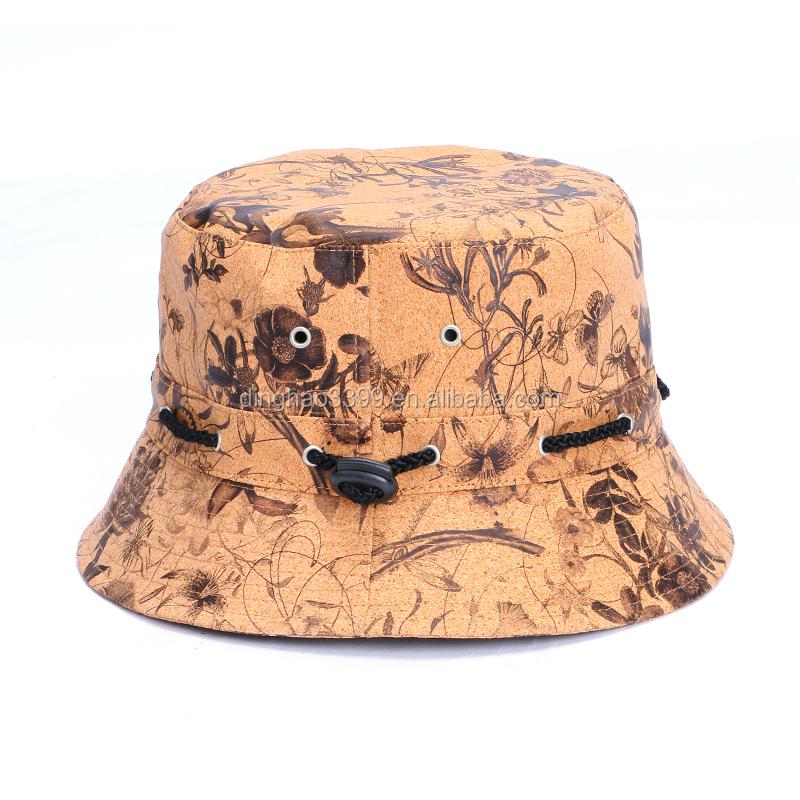 b10fa7936fed4 Moda coréia clássico cortiça à prova d  água bucket chapéus para presentes   Por Atacado