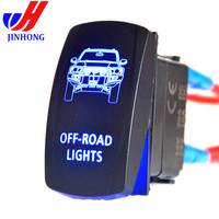 off road RV Accessory illuminated marine Rocker Switch with laser etched labels