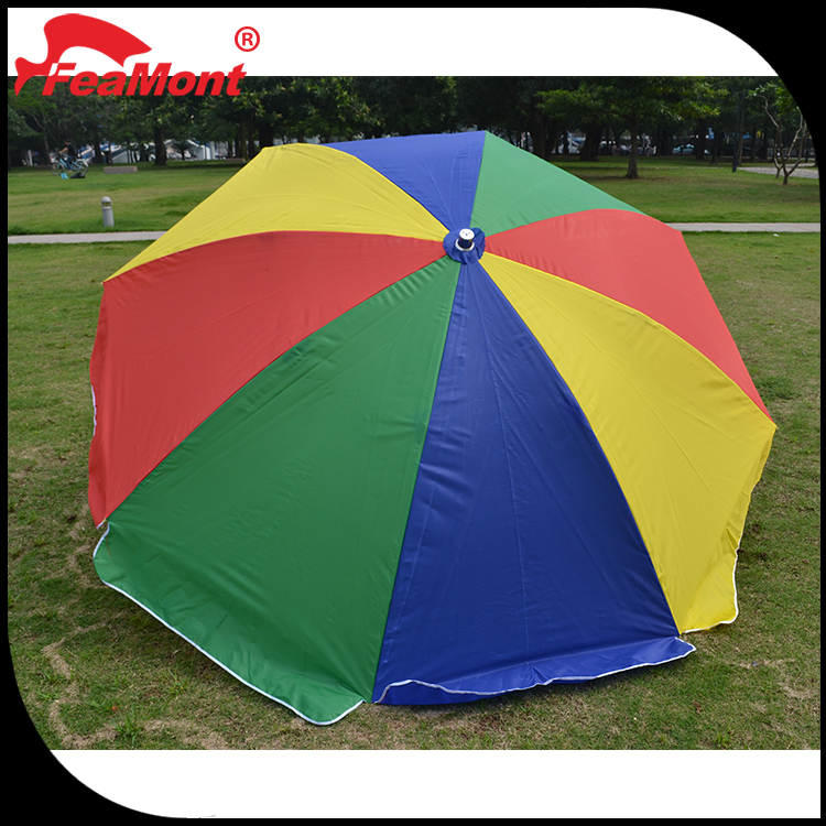 "advertising promotional 23"" 27"" 24 ribs Manual open straight rainbow umbrella"