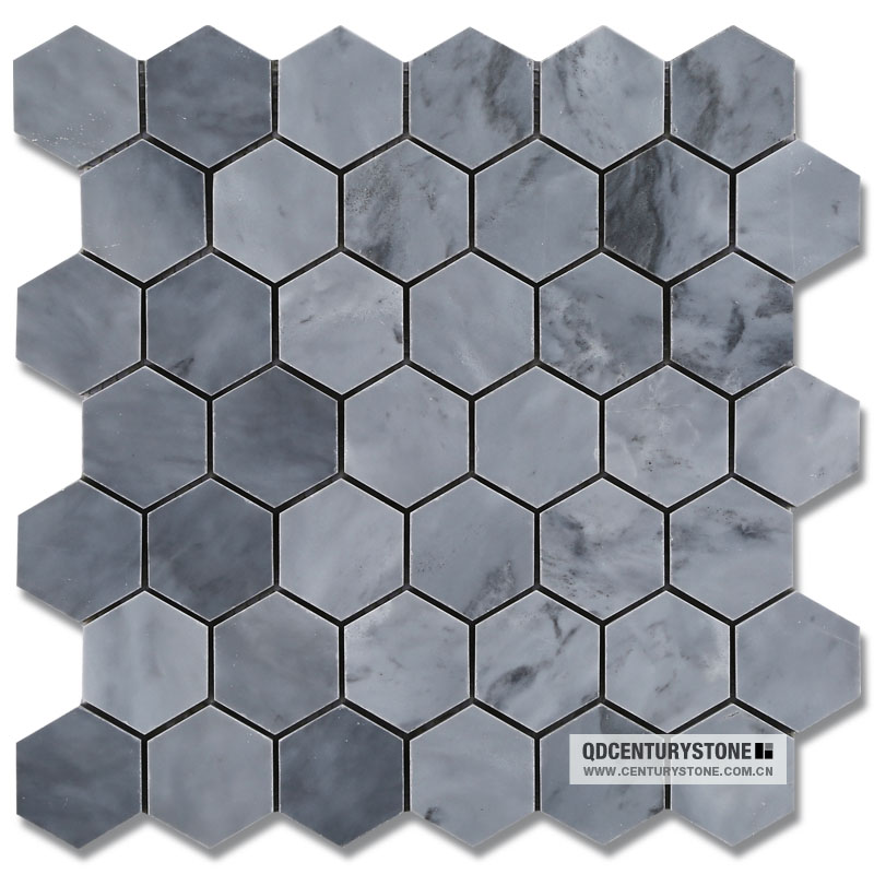 2 Milano Grey Marble Honed Hexagon