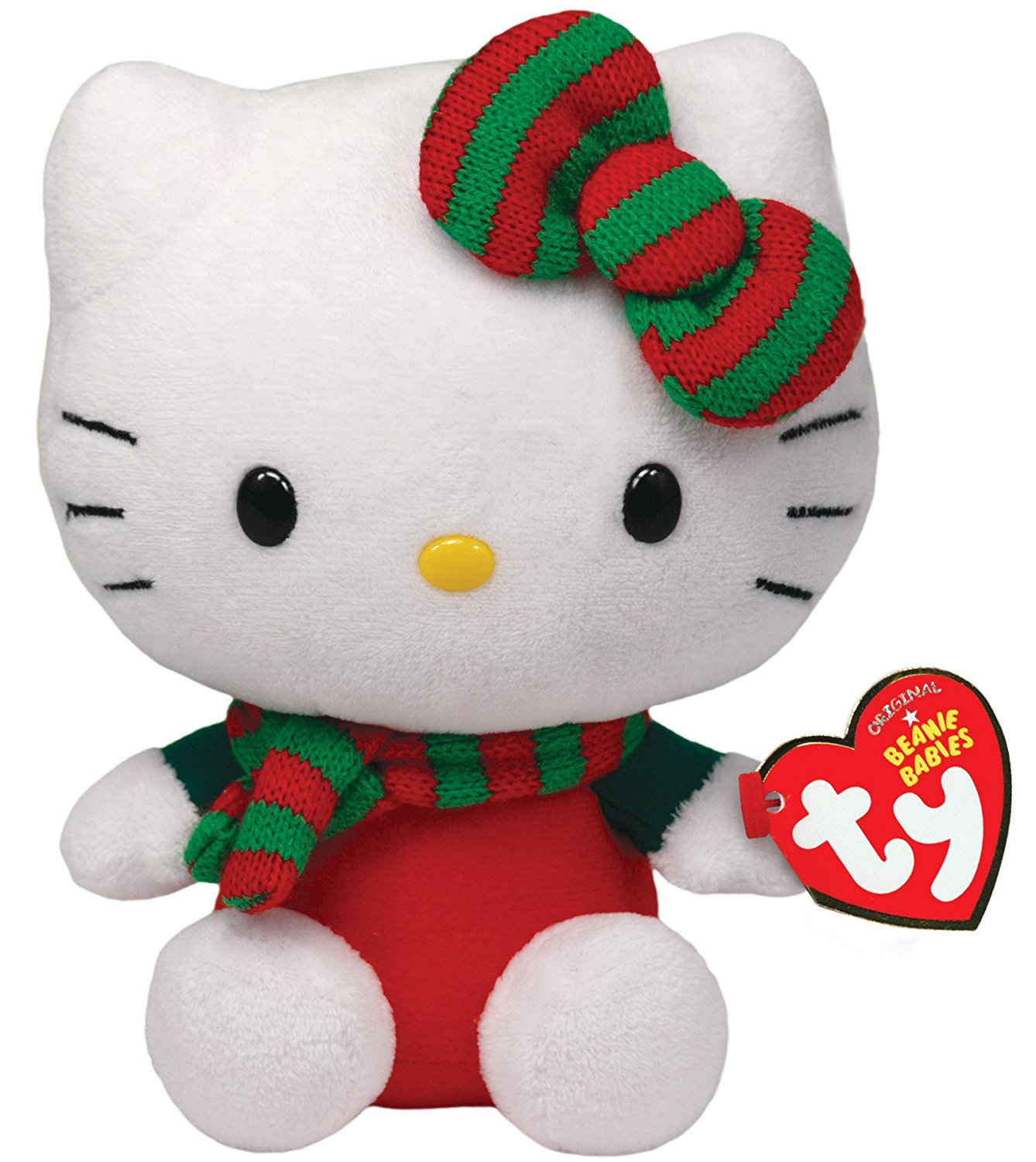 Get Quotations · Ty Beanie Babies Hello Kitty - Red Christmas Outfit d3738913d1fe