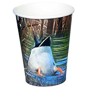 Duck Hunting Party Cups (Hot/Cold, 12 oz., Paper, 8 Pack) Bottoms up Mallards, Duck Pond Collection by Havercamp